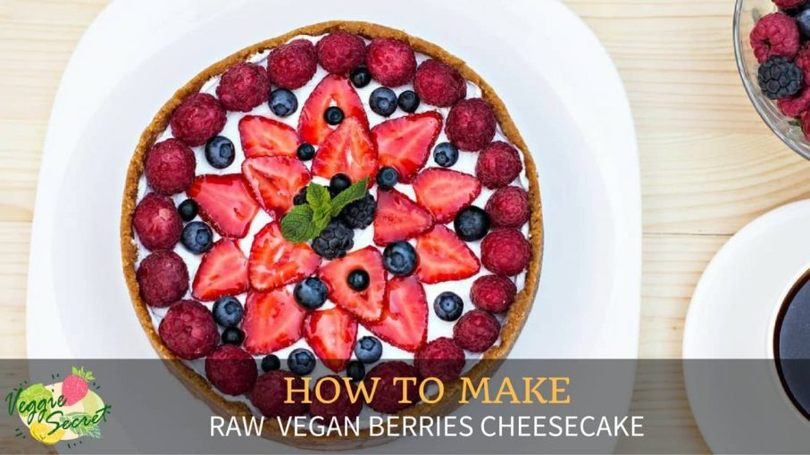 vegan berry cheese cake